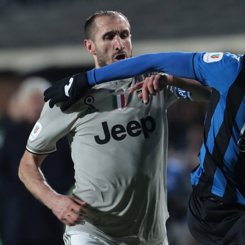 Chiellini's Match Shirt, Atalanta-Juventus 2019