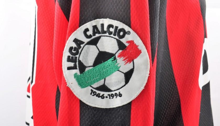 Davids' Signed Match-Worn Milan Shirt, 1996/97 Serie A