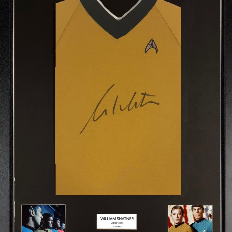 William Shatner Star Trek Framed Uniform