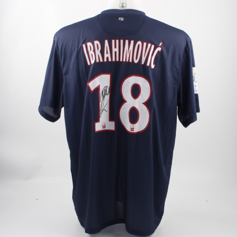 the latest dbb4e 9be91 Official Ibrahimovic PSG shirt, Ligue 1 12/13 - signed