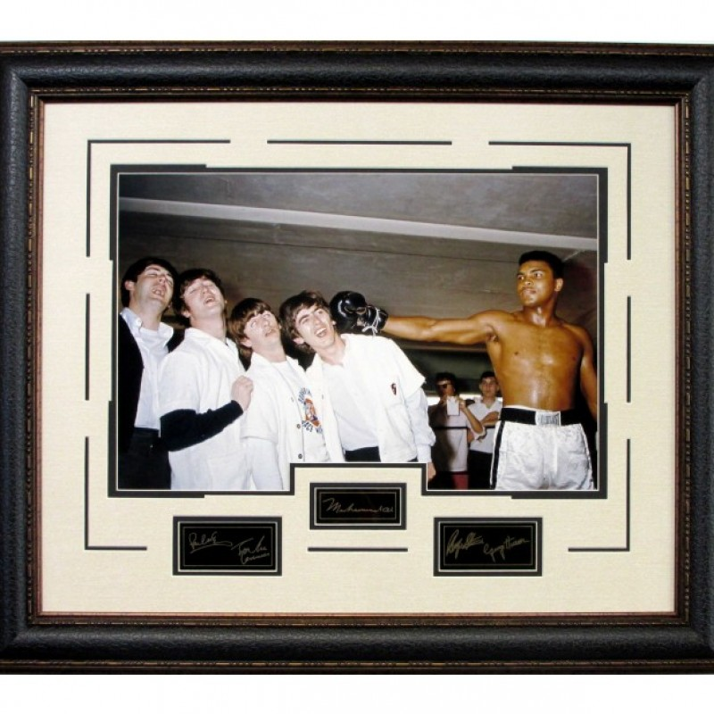 "Muhammad Ali and The Beatles ""In the Ring"" Vintage Photograph"
