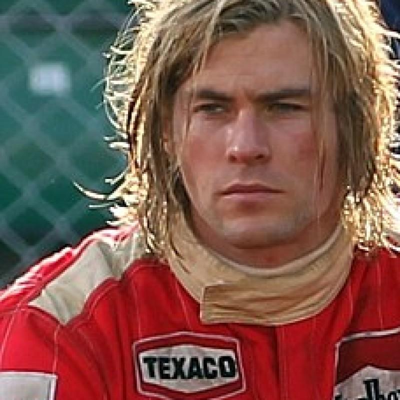 "Chris Hemsworth (James Hunt) worn suit on ""Rush"" set"