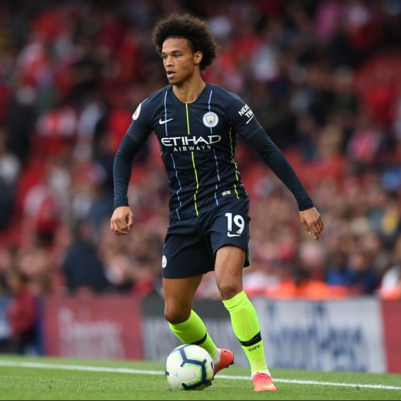 Sane's Manchester City Worn and Signed Shirt, 2018/19