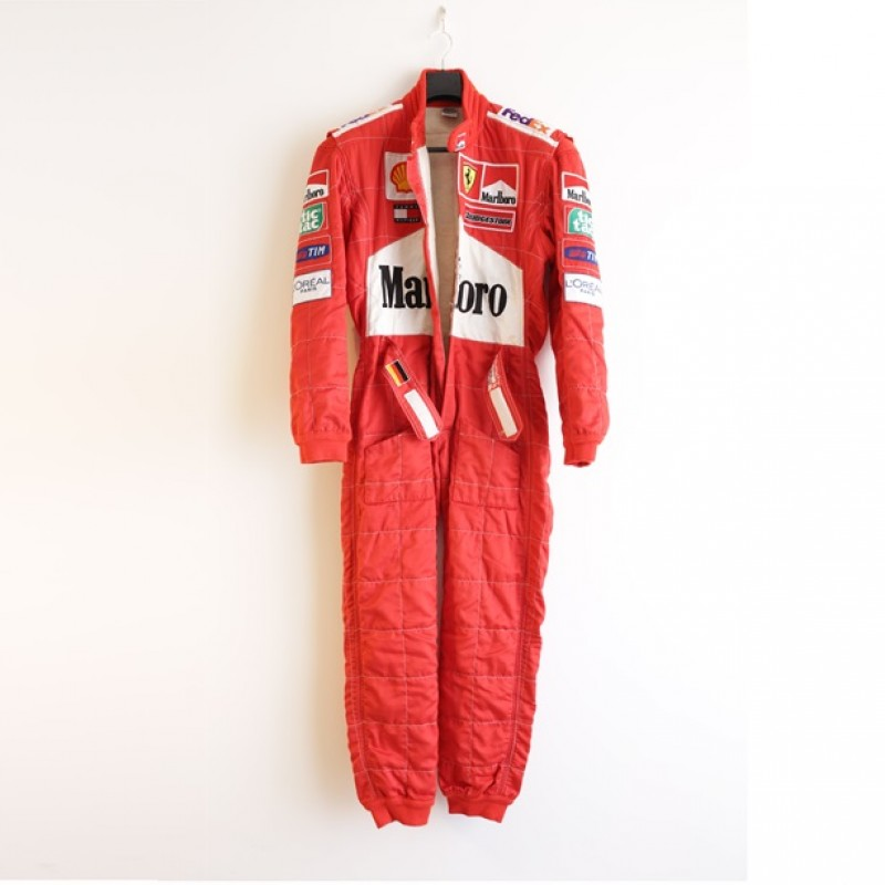 Michael Schumacher 2001 Ferrari worn race suit
