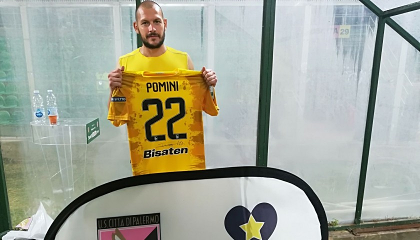 Pominis' Match-Worn and Signed Shirt from Palermo-Bari 2018