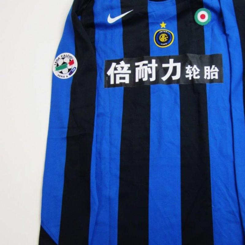 Figo match issued/worn shirt special sponsor, Inter-Lazio Serie A 2005/2006
