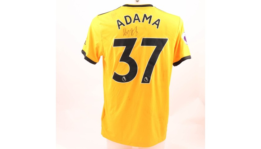 Traore S Wolves Fc Worn And Signed Poppy Shirt Charitystars