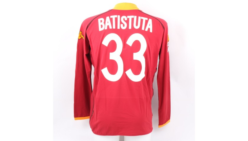 Batistuta's Roma Signed Match Shirt, 2002/03