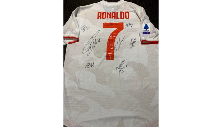 Ronaldo's Juventus Match Shirt, 2019/20 - Signed by the Players