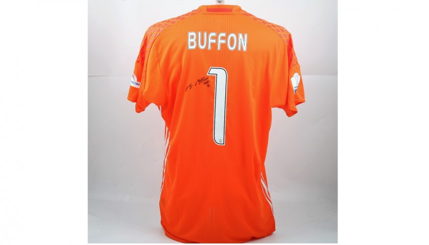 Buffon's Signed Match-Issued/Worn 2016 Doha Super Cup Shirt