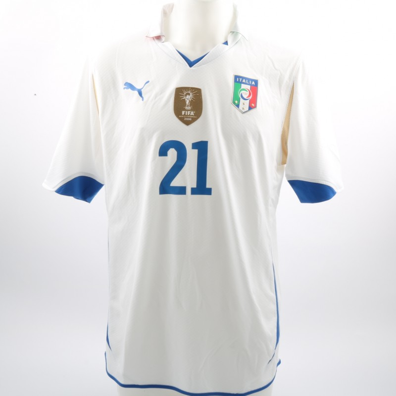 Pirlo's Match-Issue/Worn Shirt, Italy-Mexico Friendly 2010