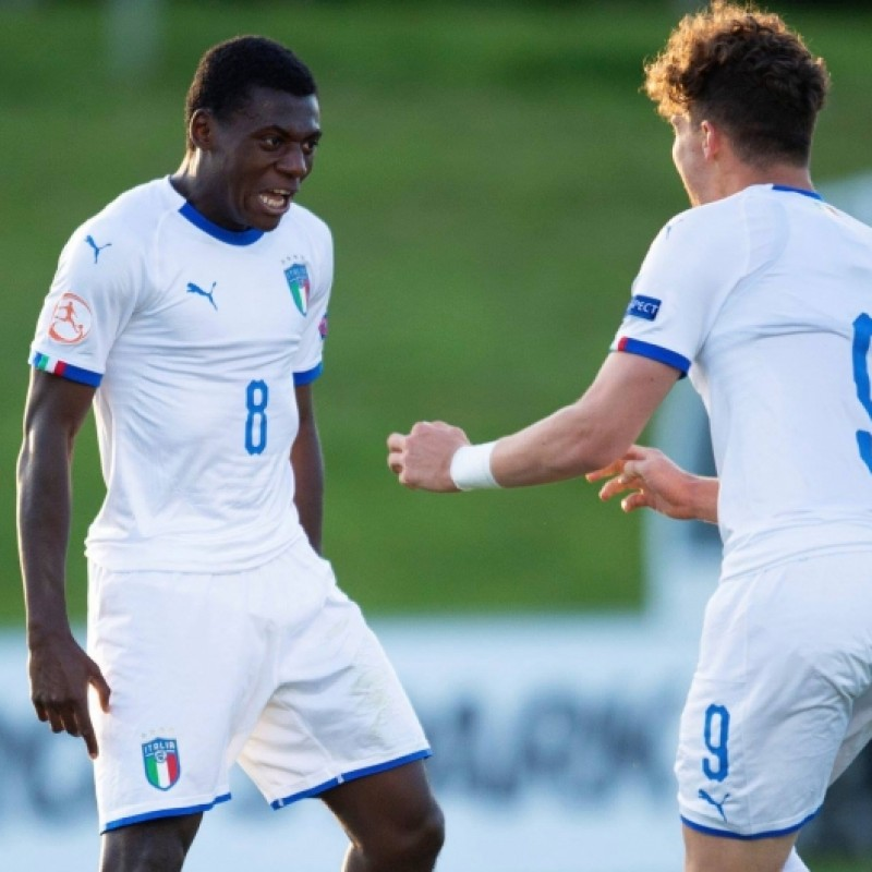 Gyabuaa's Italy Match-Issue/Worn Shirt, European Under-17 2018
