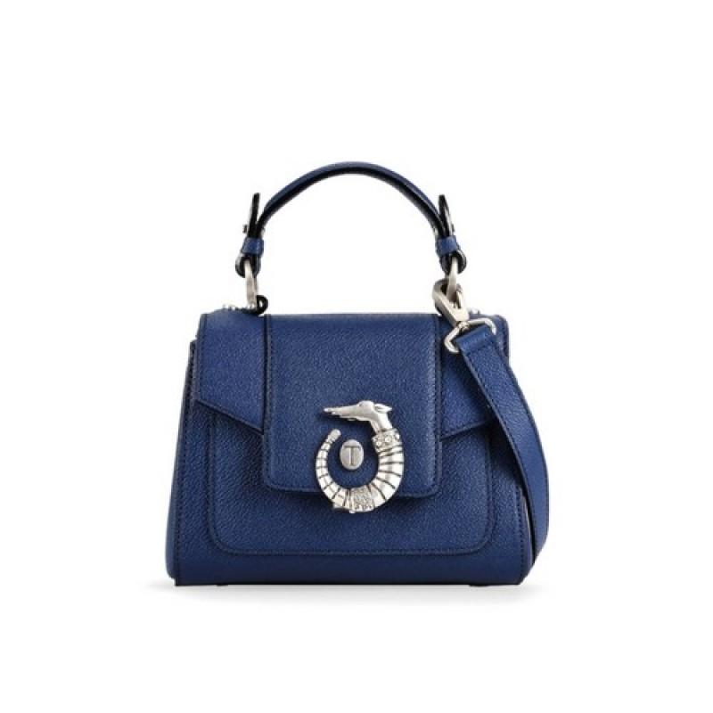 Blue Trussardi Mini LOVY Bag