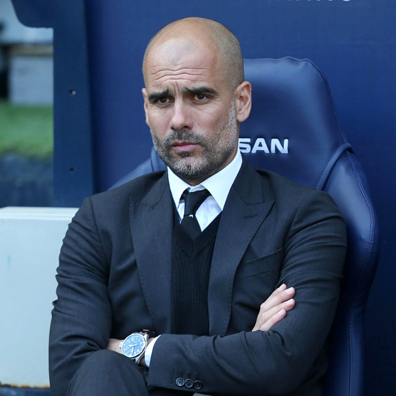 Win Pep Guardiola's Signed Dugout Seat from Etihad Stadium