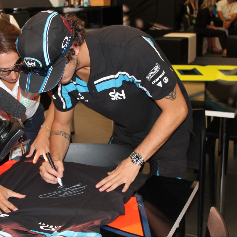 Official SKY VR46 Racing Team Kit Signed by Francesco Bagnaia