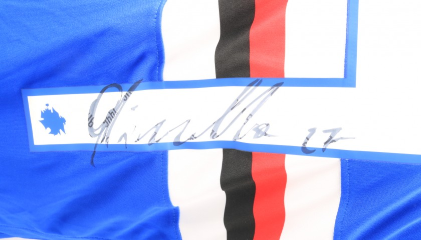Quagliarella's Sampdoria Match-Issue Signed Shirt, 2018/19