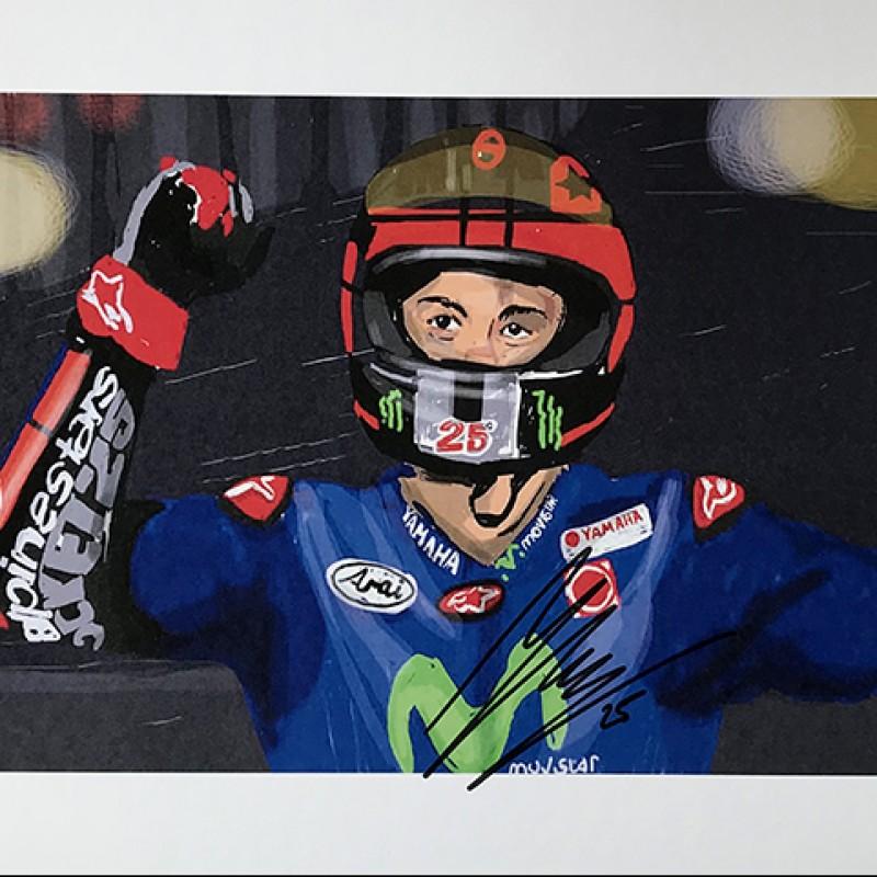 """Maverick Viñales: Race 1 Qatar"" by Tammy Gorali"