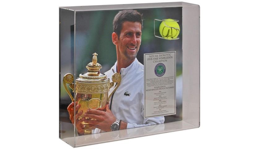 Novak Djokovic Hand Signed Tennis Ball