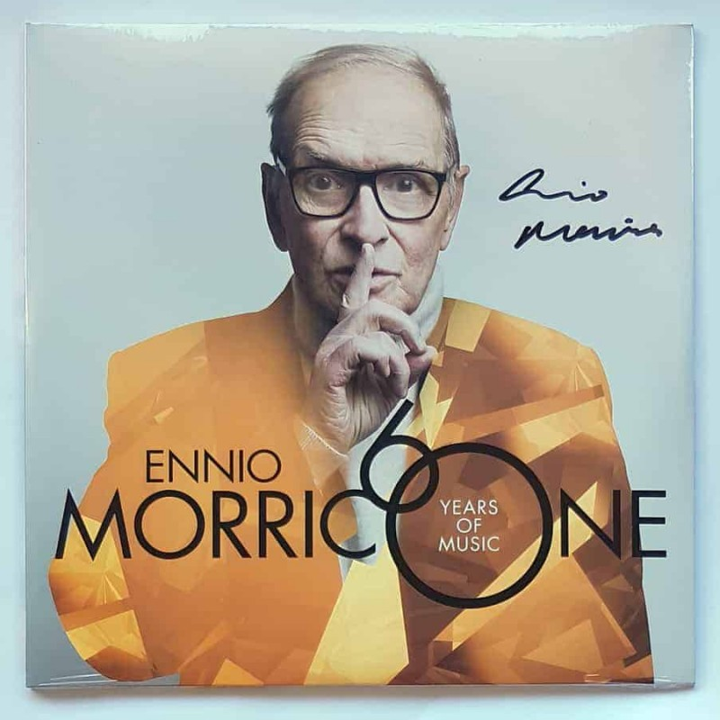 """Ennio Morricone 60 Years of Music"" Signed LP"