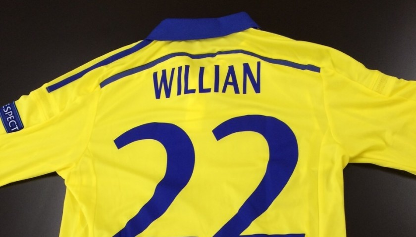 check out f7672 d5a77 Willian's issued/worn Chelsea shirt, Champions League, Schalke04-Chelsea -  signed - CharityStars