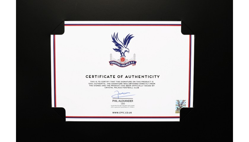 Crystal Palace FC Shirt Boxed & Signed by the Squad of 2017|18