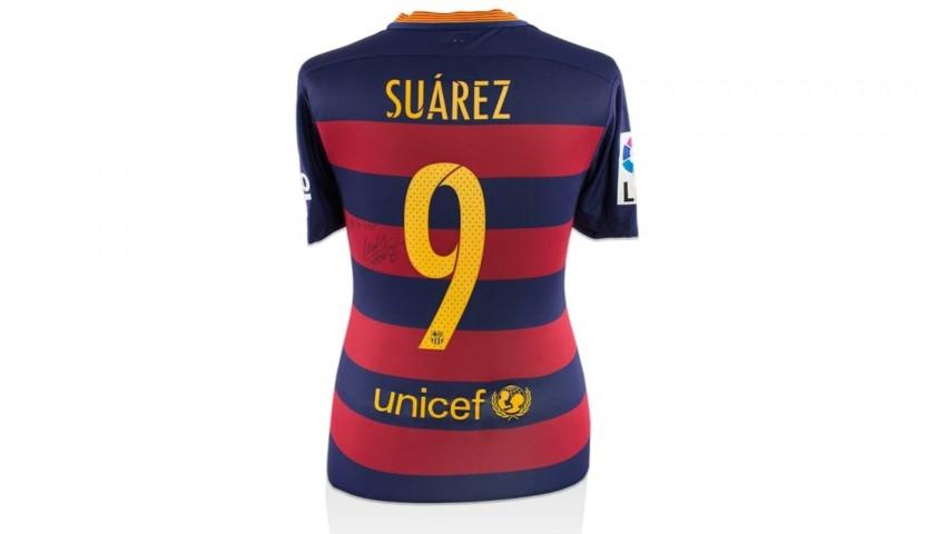"Suarez's Barcelona Worn and Signed ""El Clásico"" Shirt, 2015/16"