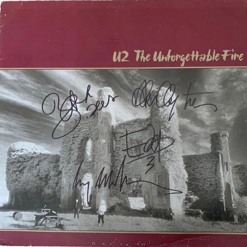 U2 Signed The Unforgettable Fire Vinyl LP