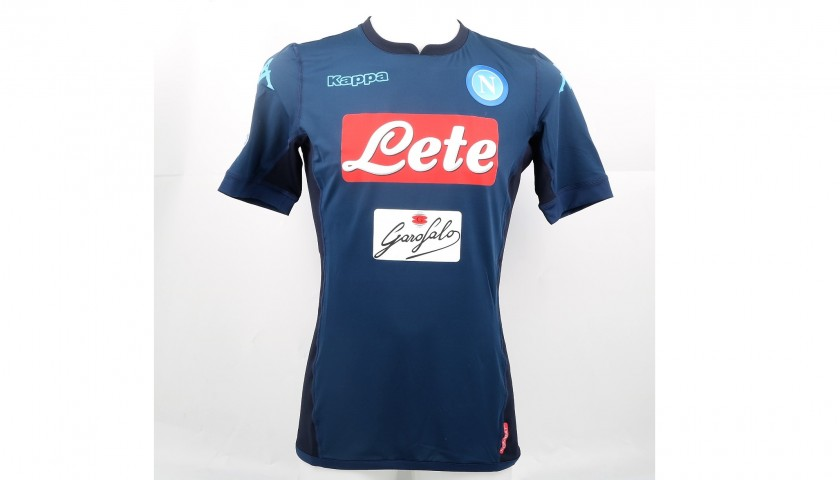 Hamsik's Match-Issued/Worn Napoli Shirt, Serie A 2017/18