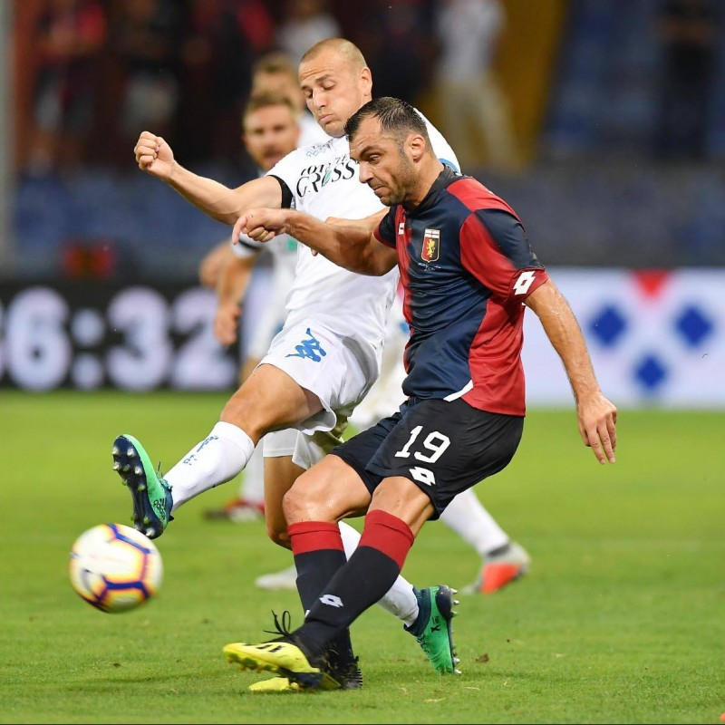 Pandev's Genoa Match-Issue Signed Shirt, 2018/19