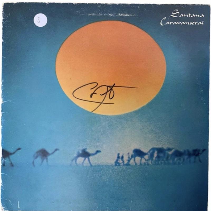 Carlos Santana Caravanserai Signed Vinyl LP