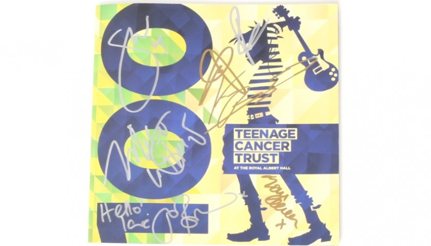 Signed Teenage Cancer Trust Programme