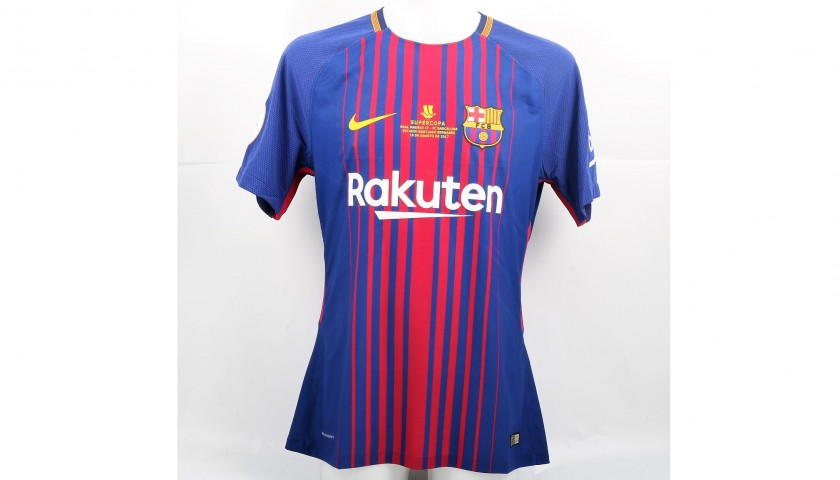 8903acf44ea Messi s Match-Issued Barcelona Shirt