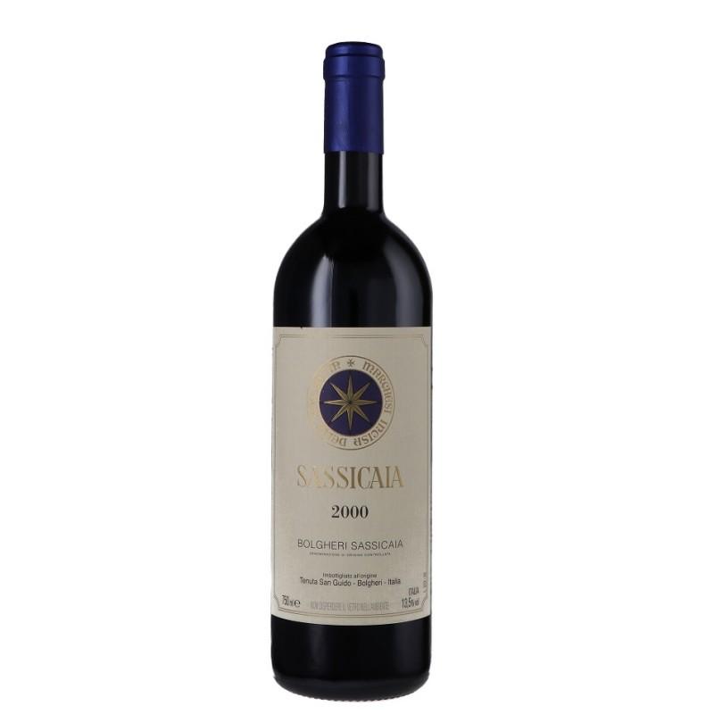 Bottle of Sassicaia 2000