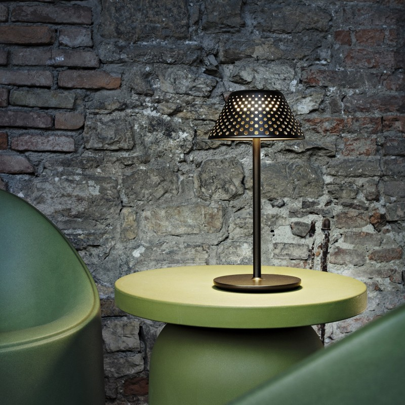 "Bronze ""Mesh"" Battery Platek Lamp"