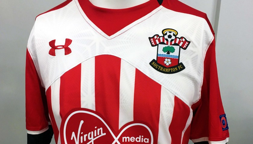 new product 7ee57 49738 Virgil van Dijk Match Worn Southampton FC 2016/17 Home Shirt - Sparta  Prague 15/09/16 - CharityStars
