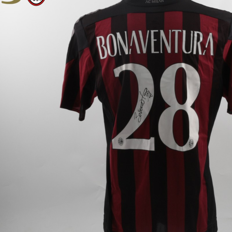 Match Worn Bonaventura shirt, Milan- Torino, Berlusconi 30th Anniversary - signed