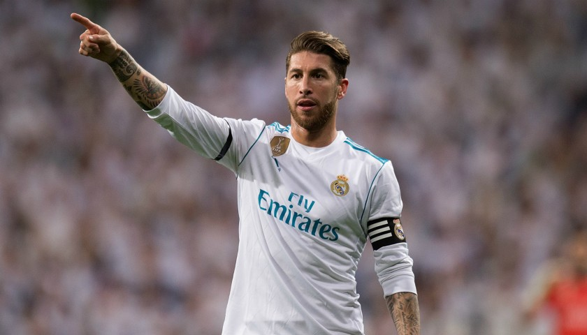 Sergio Ramos  Real Madrid Match-Issue Worn 2017 18 Shirt ... 2e15a6cfd