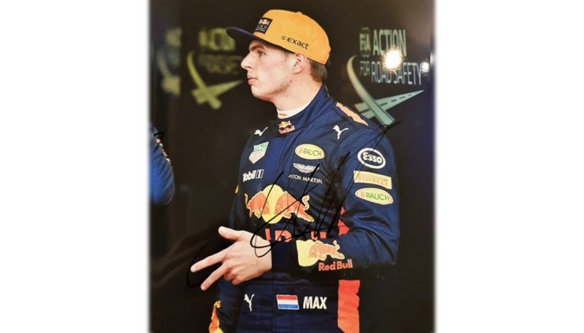 Photograph Signed by Verstappen and Ricciardo