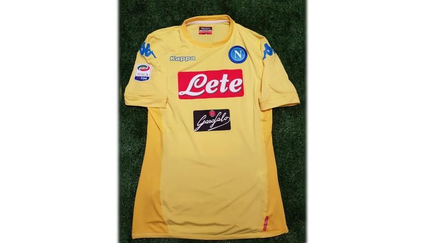 Milik's Napoli Match Shirt, Serie A 2017/18