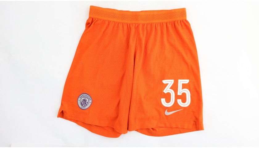 Zinchenko's Manchester City Match Shorts, Champions League 2018/19