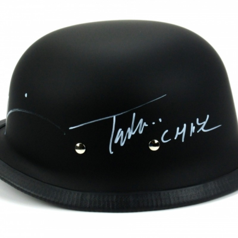Tommy Flanagan & Mark Boone Jr Signed Black Matte Daytona Authentic Biker Helmet