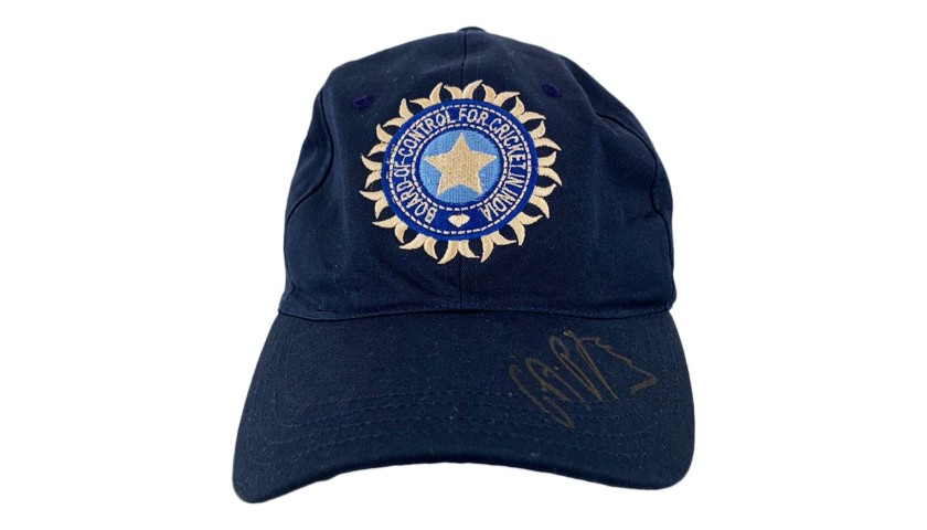 India Cricket Cap Signed by Cheteshwar Pujara