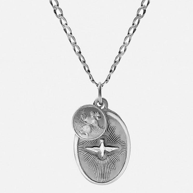 Miansai Dove Pendant Necklace + Miansai Gold Vermeil Cuff Bracelet