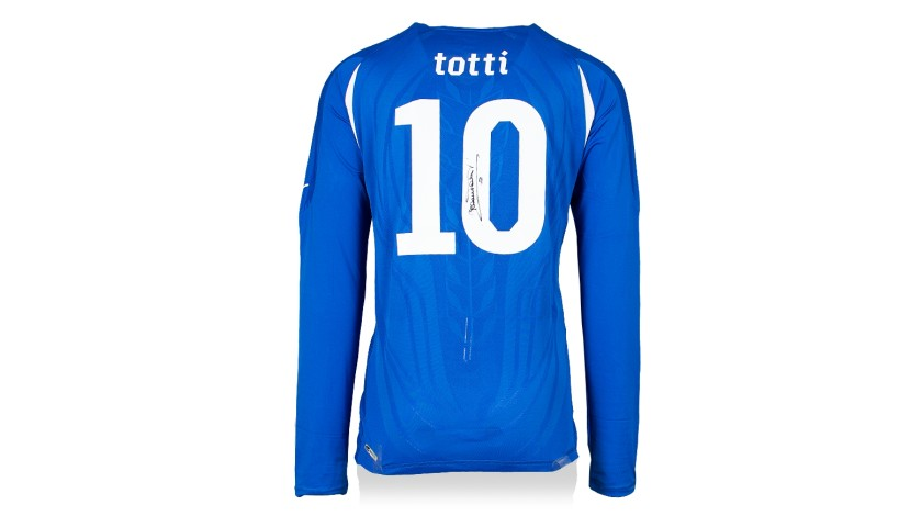 Francesco Totti Hand Signed Italy 2010-12 Home Shirt