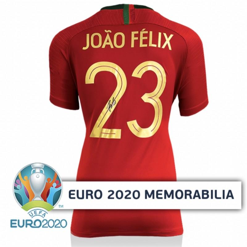 Felix's Portugal Signed Shirt - Official UEFA EURO 2020