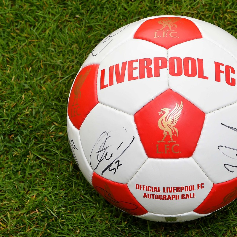 Signed LFC 2014/15 Football, includes Steven Gerrard's signature