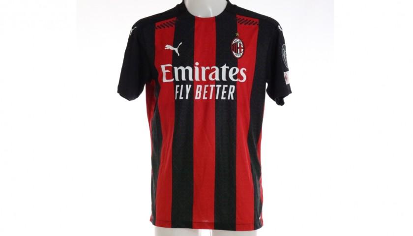 Rebic's Worn and Signed Shirt, Milan-Inter 2021