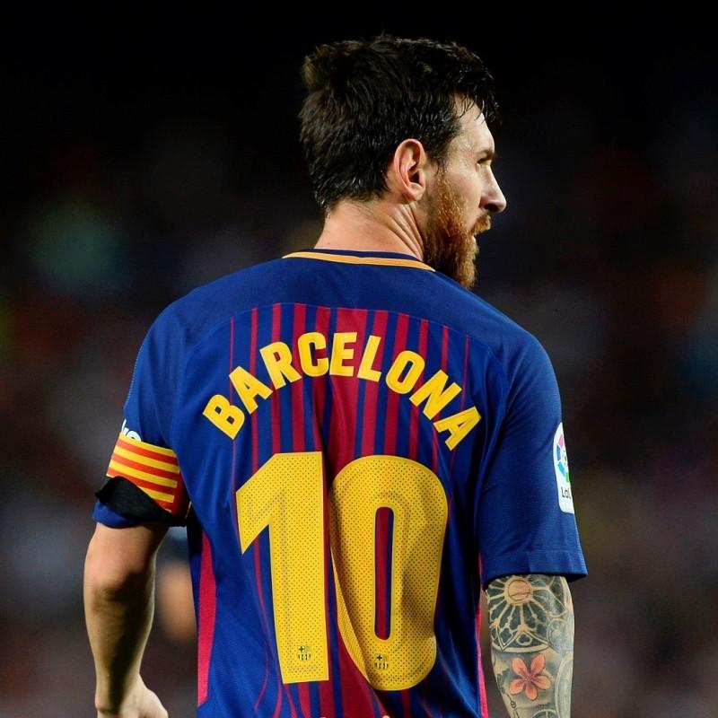 "Leo Messi's Match-Issue""Tots Som Barcelona"" Shirt"