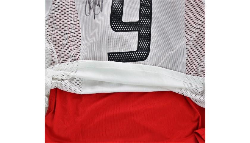 Inzaghi's Milan Signed Match Shirt, Champions 2003 Final