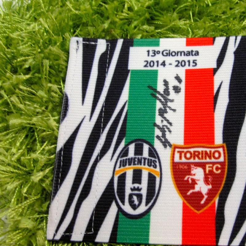 Buffon issued Captain armband, Juventus-Torino Serie A 14/15